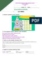 EV Español 3º Verbos 2P 2016