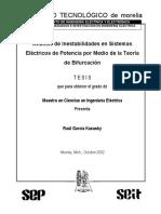 Analisis de Inestabilidad en Sistemas Eléctricos