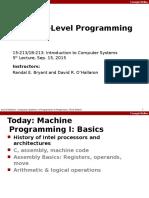 Machine Basics