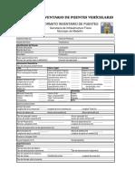 Formatos Para Inventario y Diagnóstico de Puentes