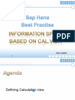 Information Space Based on SAP HANA Calculation View