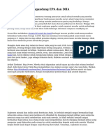 Makanan yang mengandung EPA dan DHA