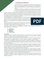 La Psicologiìa en La Educacioìn (1)