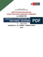 Unidades de Aprendizaje 5° grado 1er Bimestre 2016