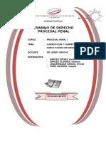 152255562 Jurisdiccion y Competencia en El Proceso Penal Peruano