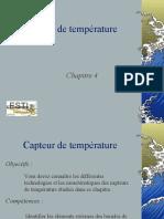 Les Capteurs de Temperature