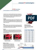 MeasurIT Red Valve Pinch Weirflex 70 CSO 0802