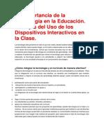 La Importancia de La Tecnología en La Educación