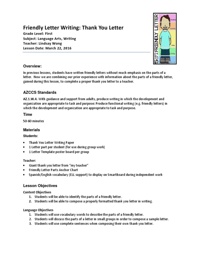 Observation 5 lesson plan writing thank you letter mar 22 observation 5 lesson plan writing thank you letter mar 22 educational assessment reading comprehension expocarfo Images