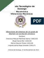 Vibraciones Mecanicas Exitacion Armonica