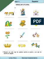 2do Grado - Español - Singular y Plural