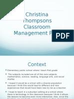 classroom mangagement plan