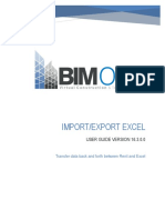 Import-Export Excel - User Guide