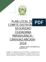 Seguridad Ciudadana Pariahuanca 2016 1