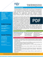 XWES Investor Fact Sheet