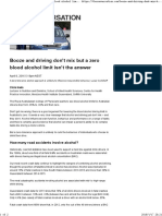 Booze and Driving Don't Mix but a Zero Blood Alcohol Limit Isn't the Answer
