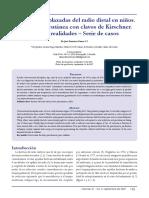 Fracturas Desplazadas Del Radio Distal en Niños - Fijacion Percutanea Con Clavos de Kirschner (RCOT 2007)