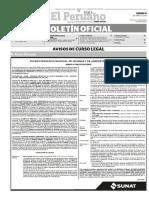 Diario Oficial El Peruano, Edición 9301. 15 de abril de 2016