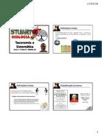 Taxonomia e Sistemática Filogenética - VISÃO - PROFº STUART - 2016.pdf