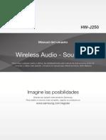 Soundbar Samsung en Espeñol AH68 02839D HW J250 ZS SPA 0325 CMS