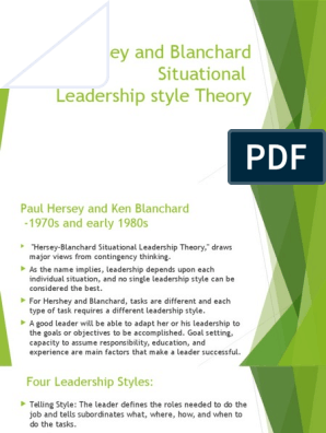 Hersey And Blanchard Leadership Style Theory Leadership Leadership Mentoring