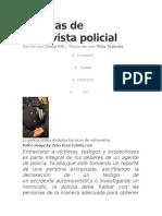 Técnicas de Entrevista Policial