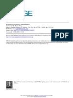 Wray, K. B. Rethinking Scientific Specialization. Social Studies of Science, Vol. 35, No. 1 (Feb., 2005), Pp. 151-164