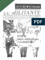 FMPR Nuevo Sindicalismo o Economismo