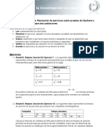 EA. Resolucion de Ejercicios Sobre Pruebas de Hipotesis e Intervalos de Confianza Para Dos Poblaciones