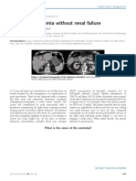 Azoemia with normal renal function