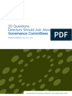 20 Questions Directors Should Ask About Governance Committees