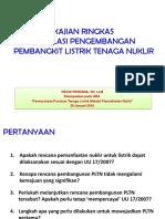 regulasi pengembangan PLTN