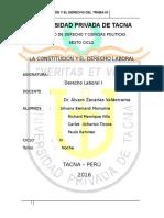 La Constitucion y El Derecho Laboral