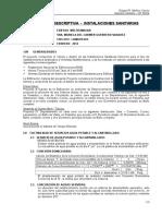 Modelo 1 - Memoria Desc. Sanitarias - Viv. Multifamiliar a 5 Niv.
