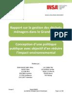 Rapport et propositions sur la gestion des déchets ménagers et assimilés dans le Grand Lyon
