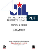 2016 UIL Area Track & Field Meet Information