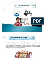 Citrix 1Y0-201 exam PDF