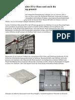 Verschiedene Produkte für Haus und auch die Gebäudedämmung genutzt