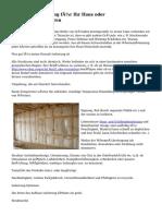 Struktur-Dämmung für Ihr Haus oder Geschäftsstrukturen