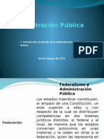 1. Introducción Al Estado de La Administración Pública Federal