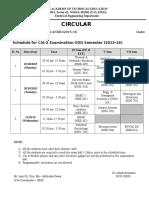 CIA-2 Schdule-EED Odd Sem 2015-16
