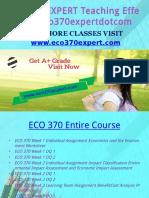 ECO 370 EXPERT Teaching Effectively Eco370expertdotcom