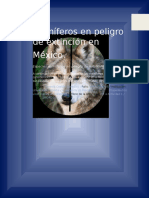Mamíferos en Peligro de Extinción en México