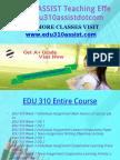 EDU 310 ASSIST Teaching Effectively Edu310assistdotcom