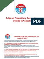 Federalismo Demaniale Criticità