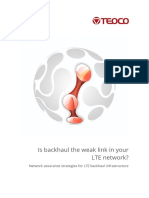 TEOCO White Paper LTE Backhaul Assurance