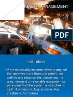 Mass Casualty Management