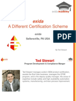 Exida Webinar - A Different Certification Scheme