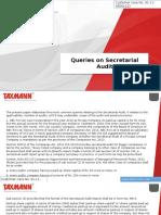 Queries on Secretarial Audit
