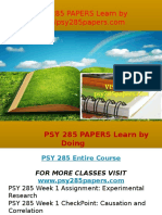PSY 285 PAPERS Learn by Doing- Psy285papers.com